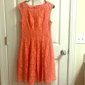 Apricot color dress